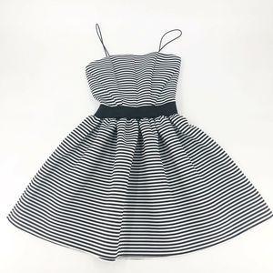 Love...Ady Striped Fit & Flare Dress M